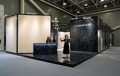 Champion Ingenious stones at 2018 Cersaie